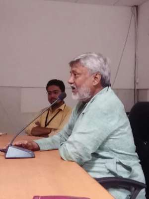 An extension lecture of Dr. Rajendra Singh 'Waterman of India'